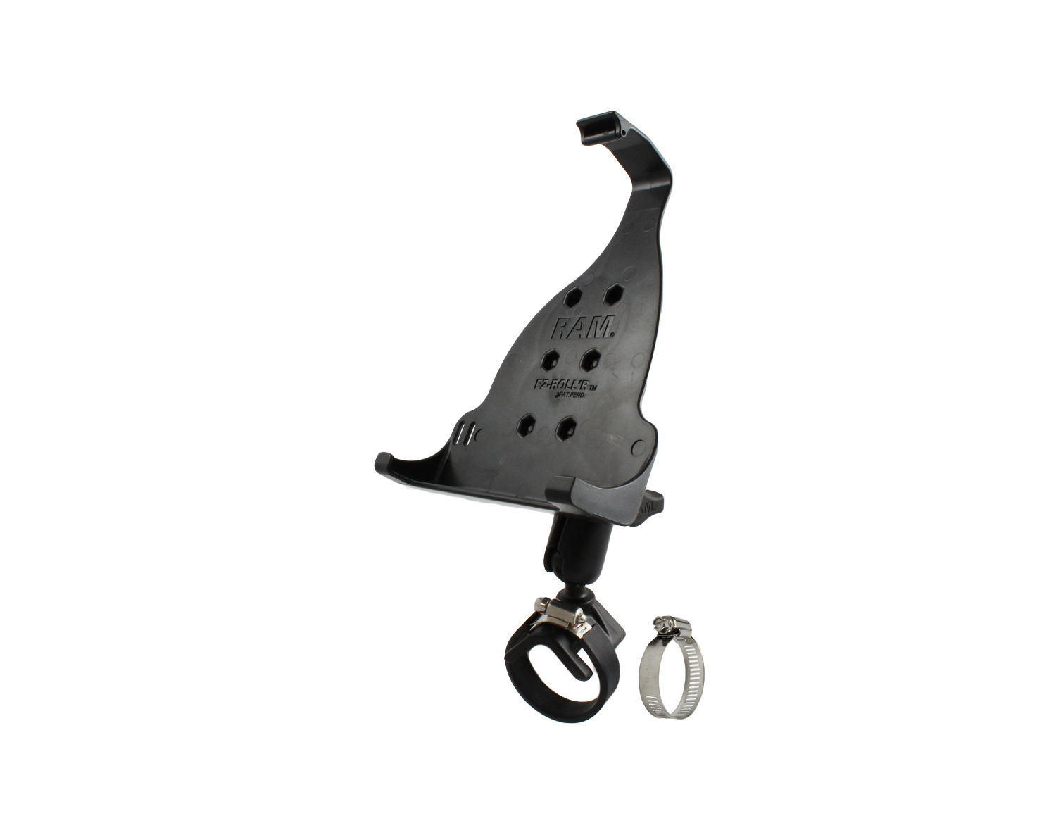 Ram Mounts V Shape Base with 1in Ball for Rails and Yokes RAM-B-108B