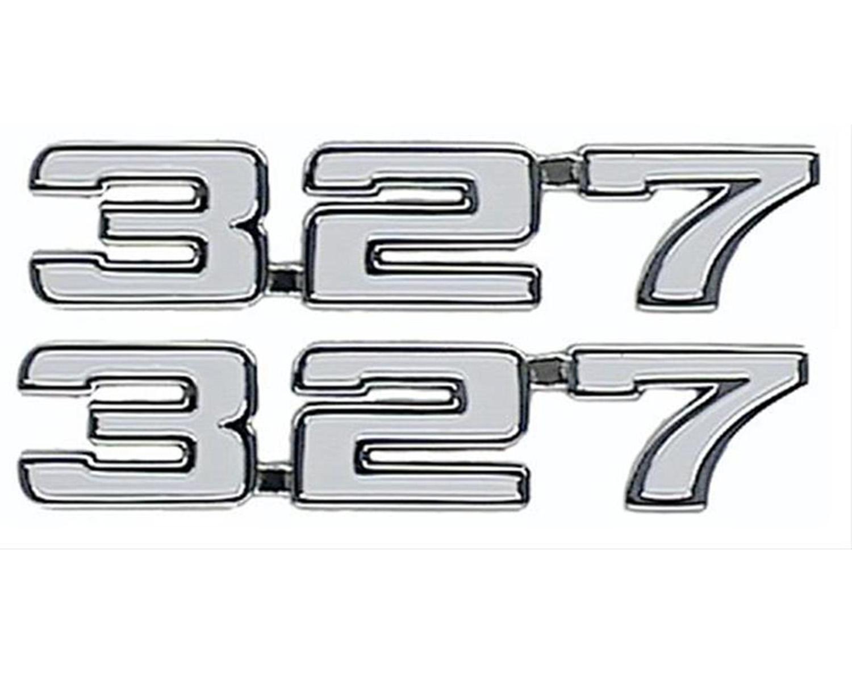 """1968 Camaro /"""" 327 /"""" Fender Emblem NEW  Pair Classic Headquarters"""